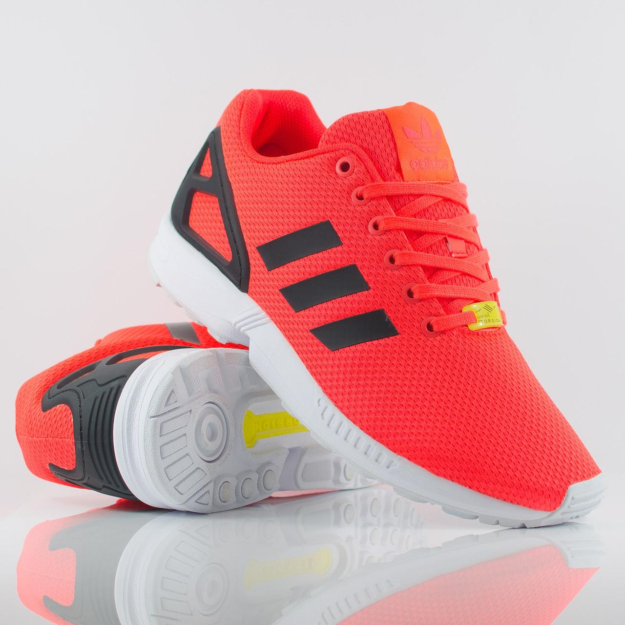 Мужские кроссовки Adidas ZX Flux Torsion красные с черным, ... aba36177bd9