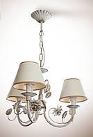 Люстра для спальни, для прихожей 3-х ламповая 13733