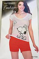 Женский комплект шорты и футболка арт 7723