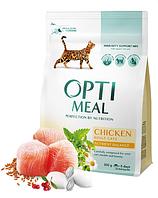 Корм Optimeal ( Оптимил ) Cat Adult Chicken 10 кг с курицей для взрослых котов всех пород