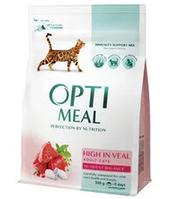 Корм Optimeal ( Оптимил ) Cat Adult High in Veal 10 кг для взрослых котов всех пород
