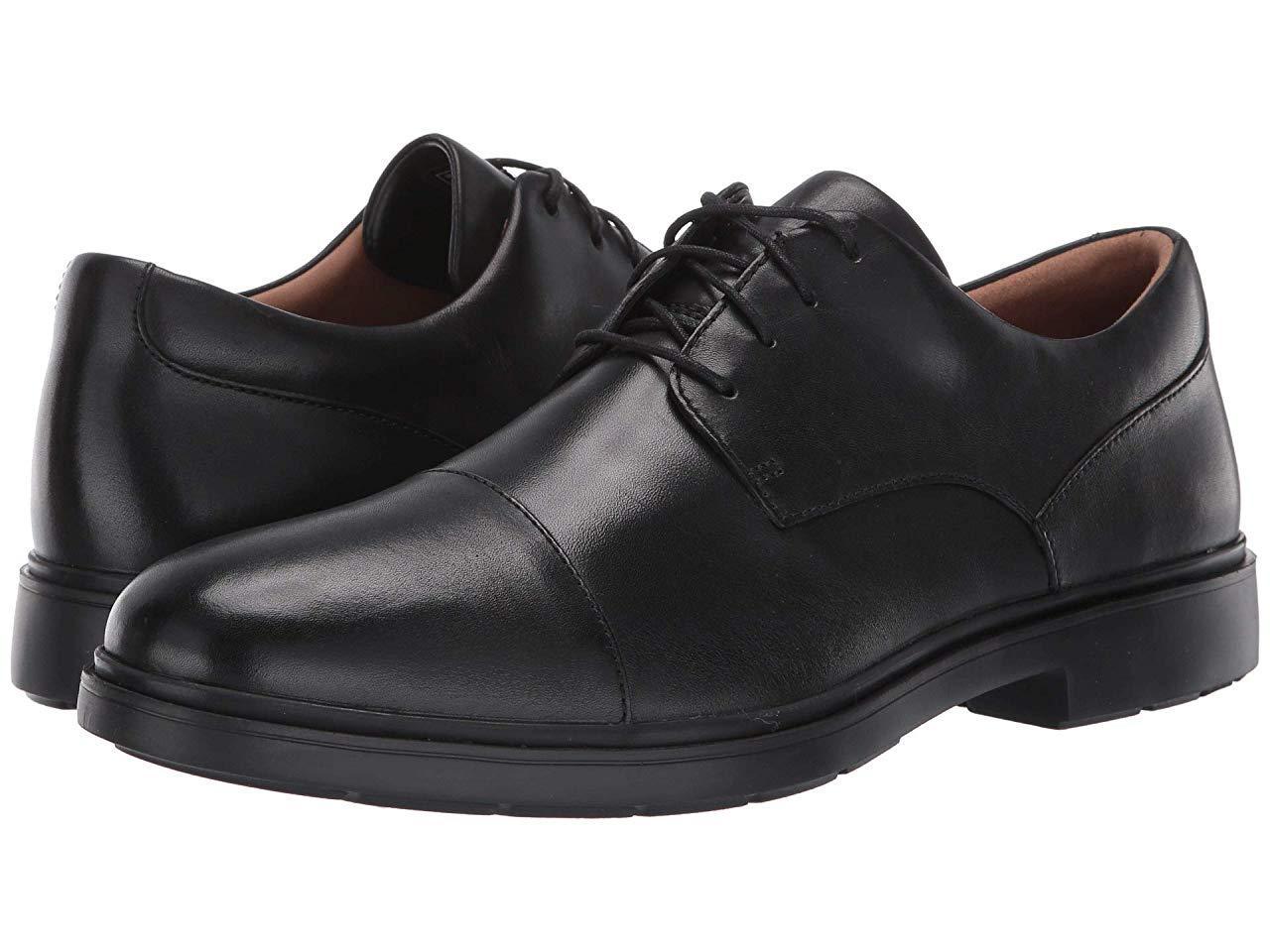 Туфли (Оригинал) Clarks Un Tailor Cap Black Leather