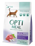Корм Optimeal ( Оптимил ) Cat Adult Duck Hairball Control 10 кг для выведения шерсти взрослых котов