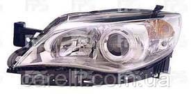 Фара передня для Subaru Impreza '07-11 права (DEPO) хромований відбивач під електрокоректор