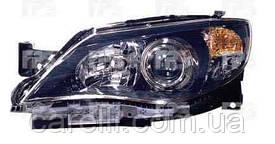 Фара передня для Subaru Impreza '07-11 ліва (DEPO) чорний відбивач під електрокоректор