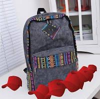 Классный Стильный Рюкзак ОРНАМЕНТ в наличии цвет  Чёрный ,Оригинал ,высококачественный, фото 1