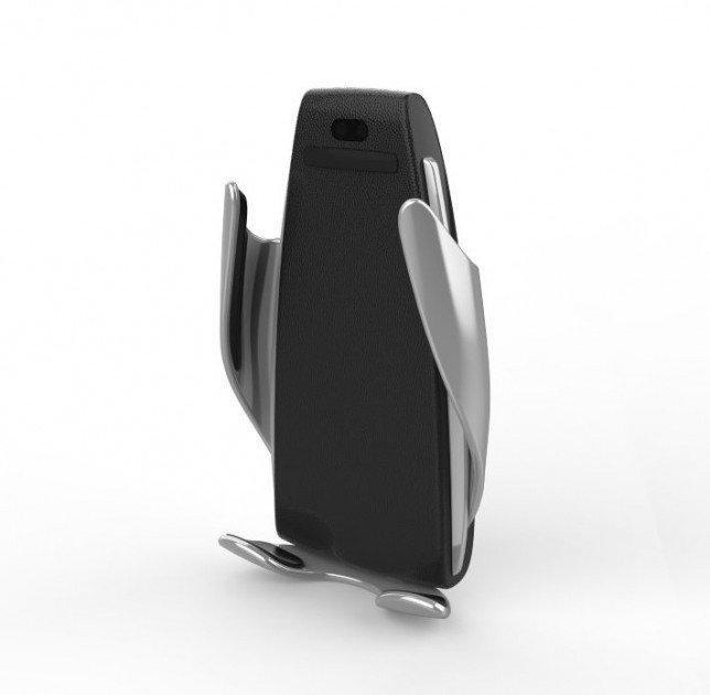 Автодержатель  телефона  с беспроводной зарядкой  S5 Дизайн будущего  По-настоящему стильный держатель для сма