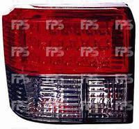 Фонари задние для Volkswagen T4 '91-03 комплект (DEPO) красно-дымчатые, Led