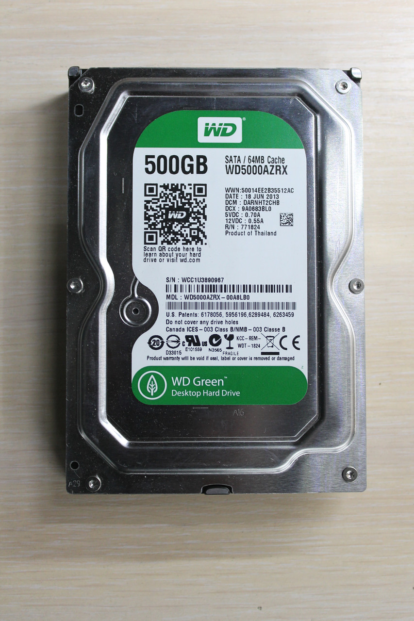 "Жесткий диск Western Digital WD5000AZRX 500GB 3.5"" Б/У ""Over-Stock"""