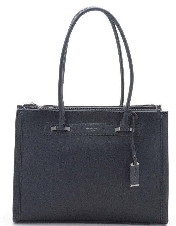 Женска сумка David Jones 29 x 38 x 15 см Черный (djcm3922t/1)