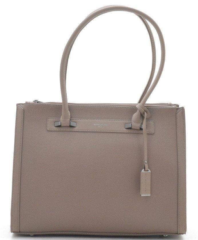 Женска сумка David Jones 29 x 38 x 15 см Беж (djcm3922t/2)