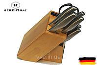 Набор ножей на подставке с деревянным блоком 7 предметов Herenthal
