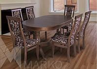 Обеденный комплект: стол Эдельвейс и стулья Эдельвейс (6шт)