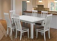 Обеденный комплект: стол Классик и стулья Версаль 6шт
