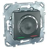 Терморегулятор для теплої підлоги, графіт. Unica Top MGU3.503.12, фото 2