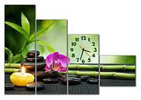 Часы модульные настенные, фотопечать 30x90 30x75 30x60 30x35 см  / cl - М 130