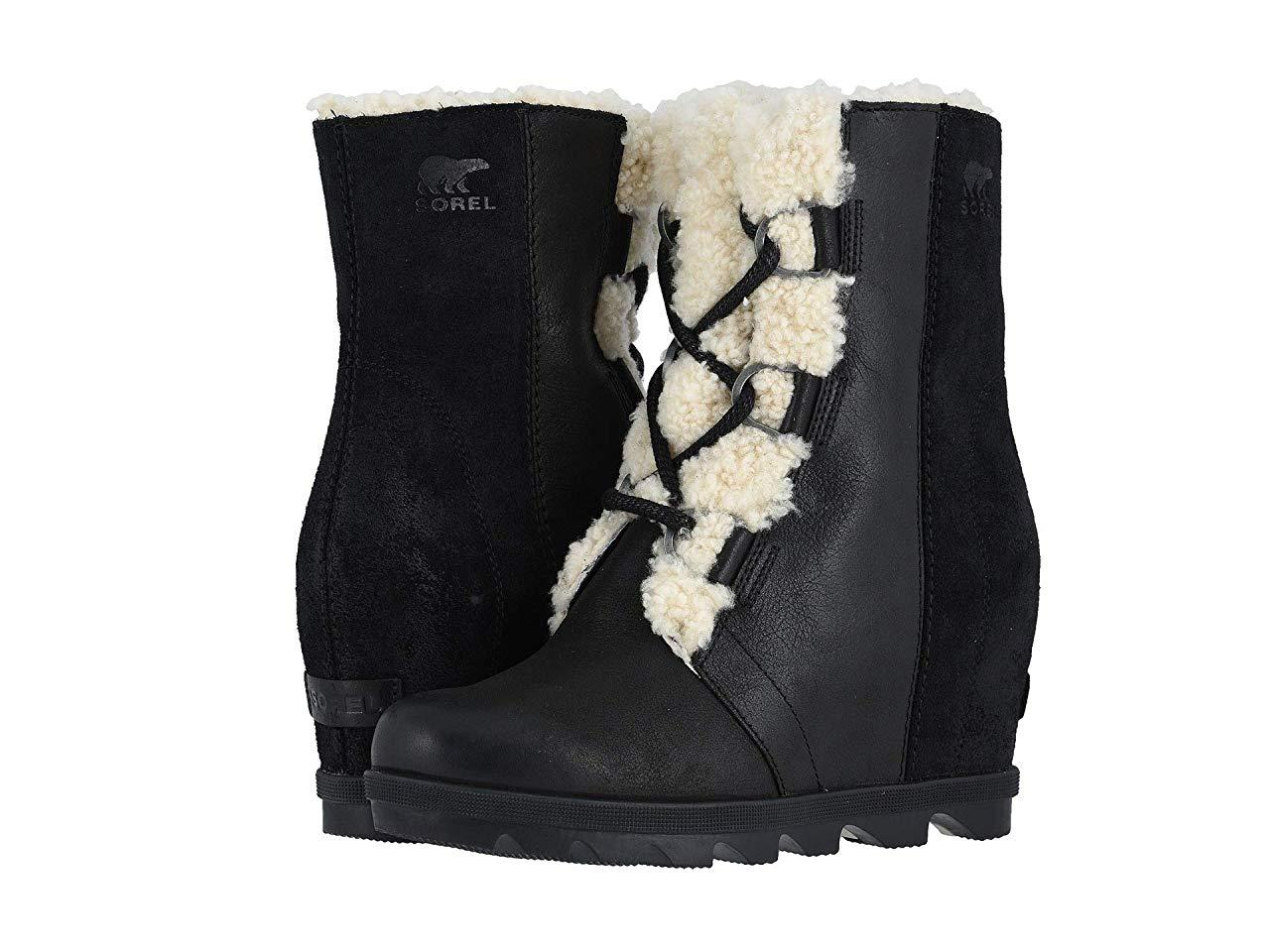 Ботинки/Сапоги (Оригинал) SOREL Joan of Arctic™ Wedge II Shearling Black
