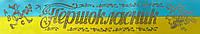 Першокласник - стрічка атласна жовто-блакитна (ЖБ), золота фольга (укр.мова)