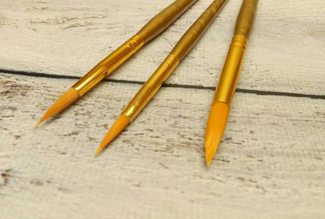 Набор кисточек для рисования из 3-х шт., фото 2