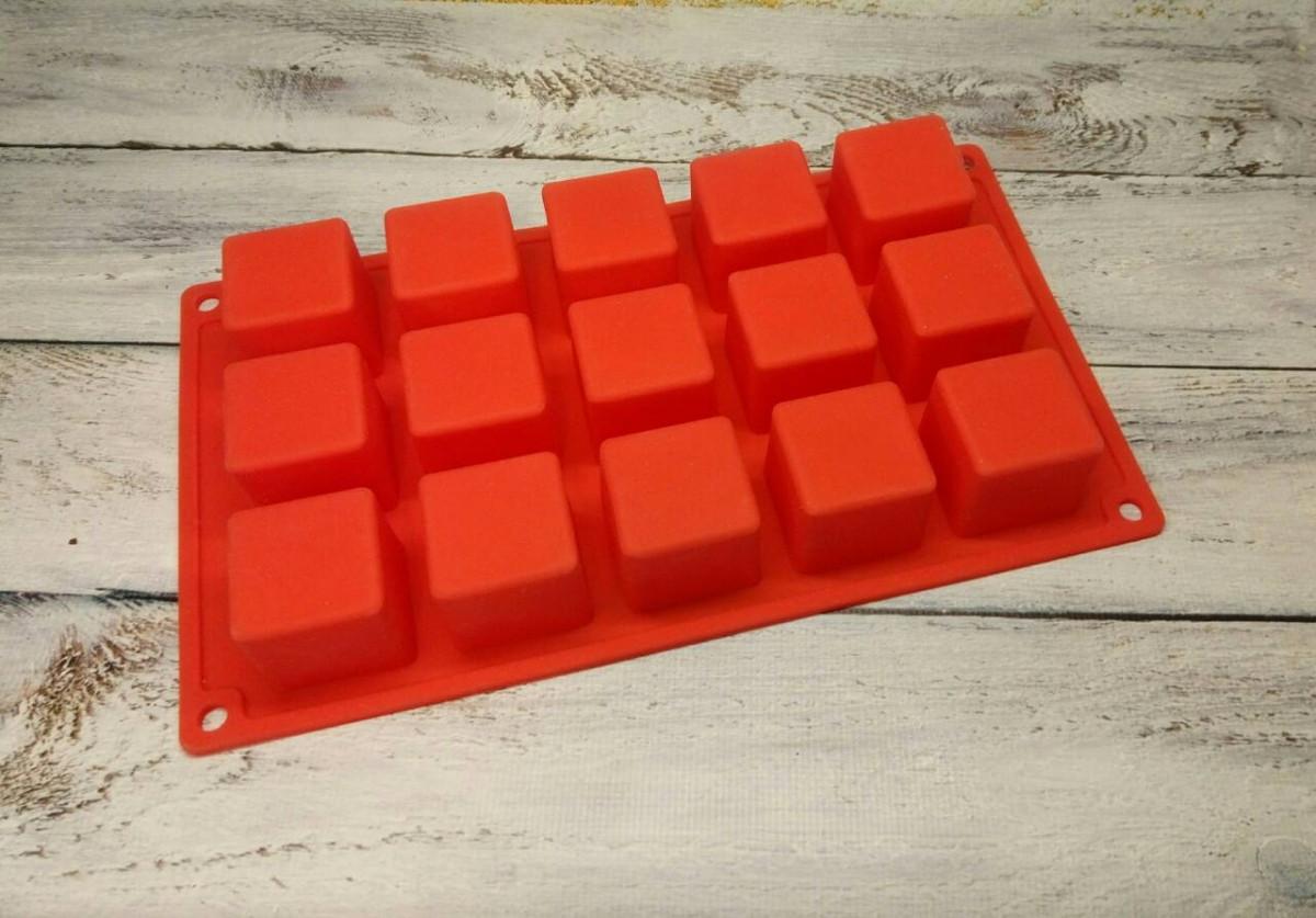 Силиконовая форма Кубики из 15 шт.
