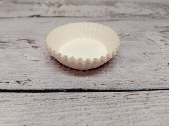 Тарталетки (капсулы) бумажные для кексов, капкейков Белые 30*10 мм, фото 2