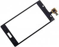 Тачскрин сенсор LG P700, P705 Optimus L7 черный с проклейкой