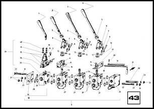 43 Командне пристрій з розподільником 348/2ЛЛЛМ