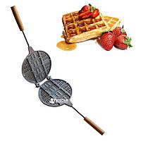 Форма для выпечки толстых бельгийских венских вафлей (вафельница)