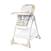 Высокий стульчик для кормления с регулируемой спинкой Tilly Bistro T-641/2 Beige