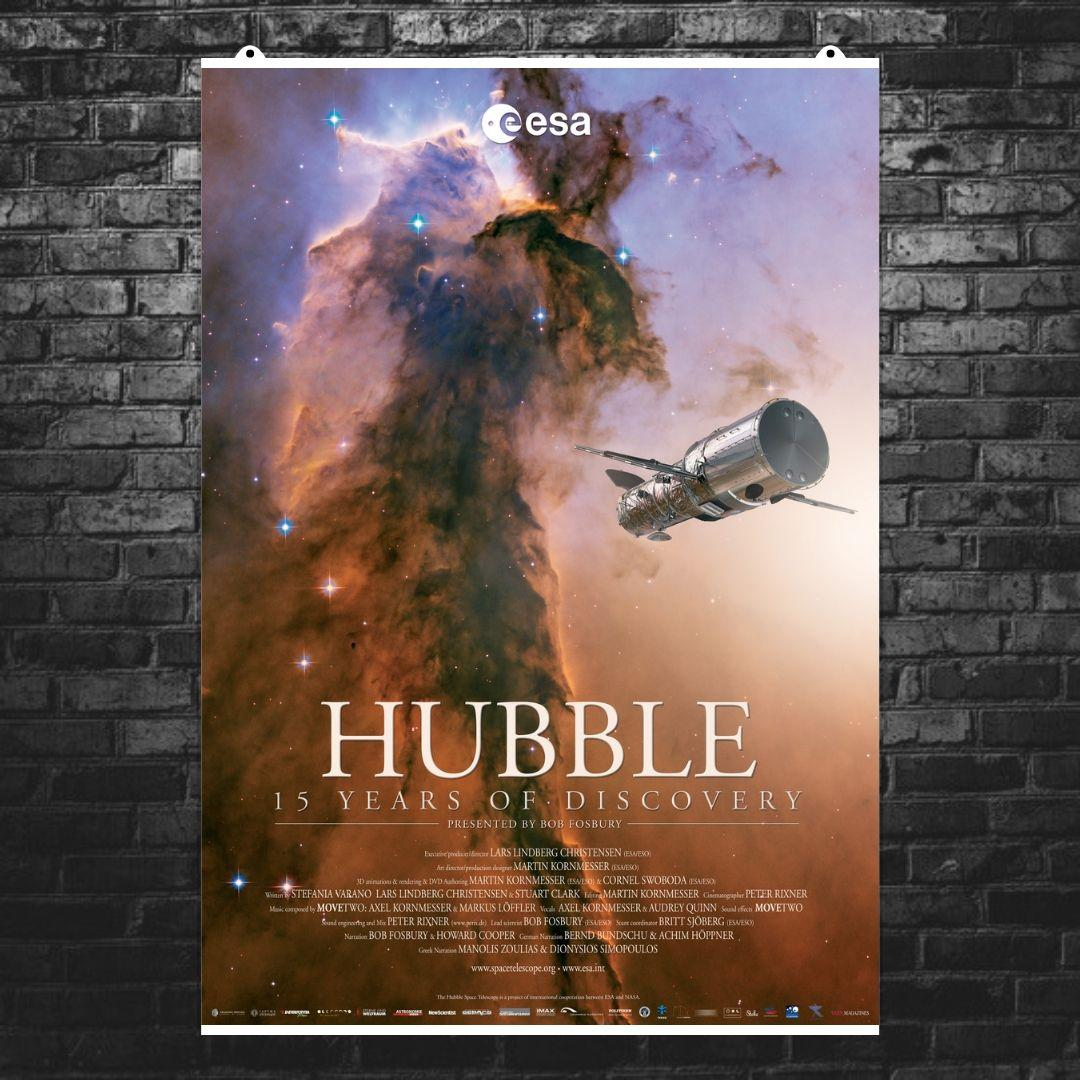 "Постер ""Телескоп Хаббл"". НАСА, NASA, Hubble, космос, астрономия. Размер 60x42см (A2). Глянцевая бумага"