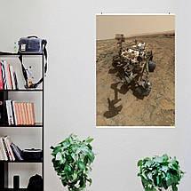 """Постер """"Кьюриосити на поверхности Марса"""". НАСА, NASA, Curiosity, Марс. Размер 60x43см (A2). Глянцевая бумага, фото 3"""