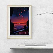 "Постер ""Экзопланета Trappist-1e"". НАСА, NASA. Размер 60x42см (A2). Глянцевая бумага, фото 3"