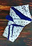 Махровый теплый конверт- одеяло на выписку, фото 7