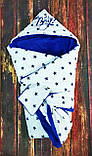 Махровый теплый конверт- одеяло на выписку, фото 8