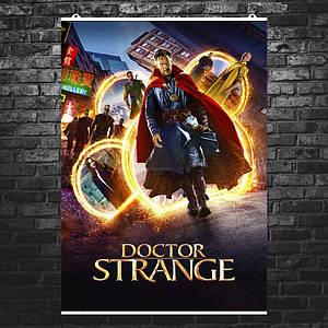 """Постер """"Доктор Стренжд, все герои фильма"""". Doctor Strange, Бенедикт Камбербэтч. Размер 60x42см (A2). Глянцевая бумага"""