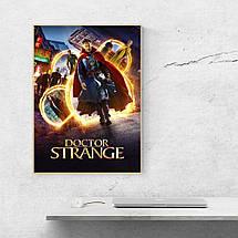 """Постер """"Доктор Стренжд, все герои фильма"""". Doctor Strange, Бенедикт Камбербэтч. Размер 60x42см (A2). Глянцевая бумага, фото 3"""