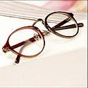 Имиджевые очки, очки с прозрачной линзой круглые, фото 3