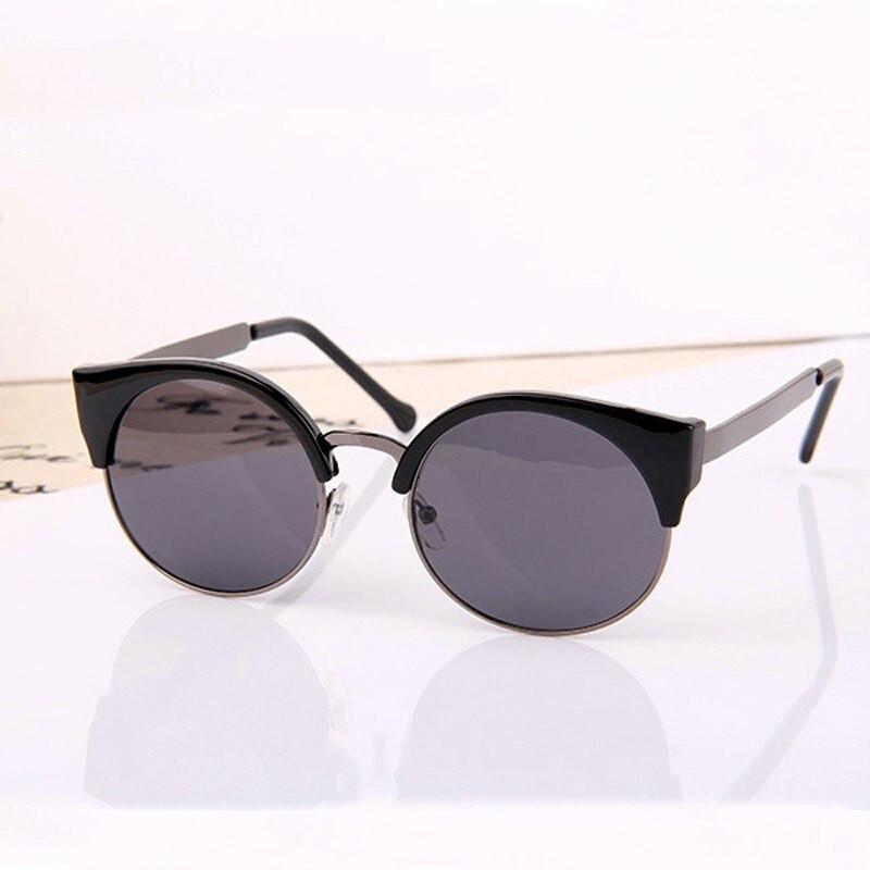 Солнцезащитные очки женские кошка круглые, Round cat 2