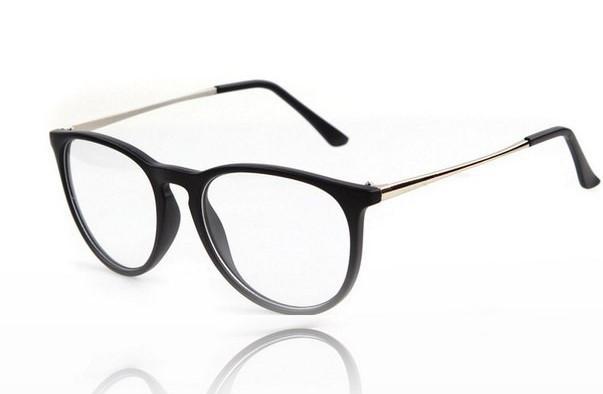 Имиджевые очки с прозрачной линзой Черный матовый