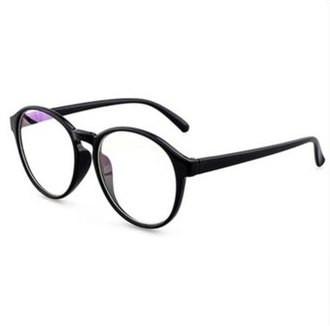 Имиджевые очки, очки с прозрачной линзой круглые большие Чёрный 1