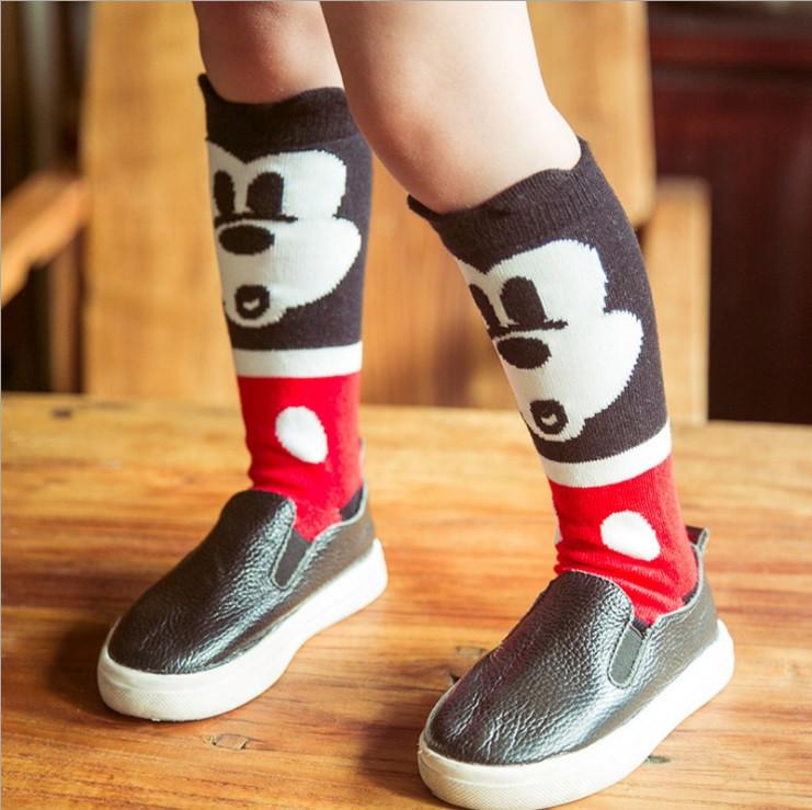 Детские высокие носки, гольфы Микки Маус