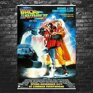 """Постер """"Назад в будущее 2"""". Back to the future, классический постер. Размер 60x43см (A2). Глянцевая бумага"""