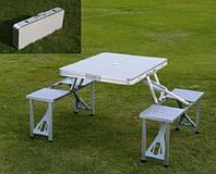 Стол со стульями-чемодан трансформер туристический .Цена актуальна S671