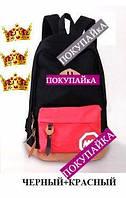 Стильный рюкзак 2 ММ Супер!! В наличии!!  Цвет Чёрный+красный Оригинал ,высококачественный,  фабричный!