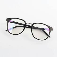 Имиджевые очки в тонкой оправе унисекс Чёрный