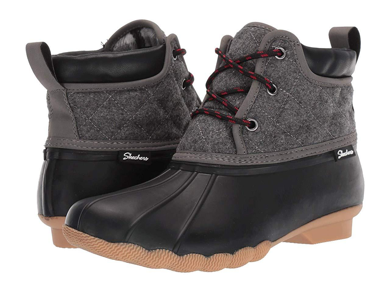 Ботинки/Сапоги (Оригинал) SKECHERS Mid Quilted Lace-Up Boot Black/Charcoal