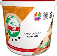 Краска акриловая ANSERGLOB фасадная (1,4 кг)