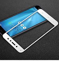 Защитное стекло Asus ZenFone Live / ZB501KL полноекранное белое