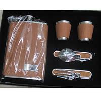 Сувенирный набор (фляга, 2 рюмки, вилка, ложка) 513мл