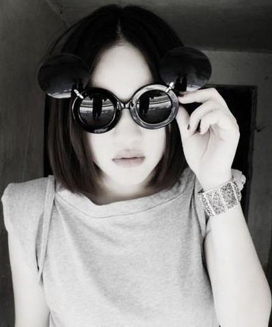 Солнцезащитные очки большие круглые Микки Маус
